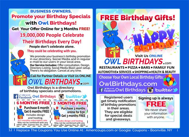 Owl Birthdays - Birthday Discounts image