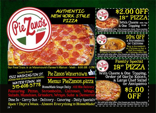 Pie Zano's Pizza image